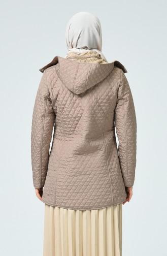 Manteau à Motifs 0823-04 Vison 0823-04