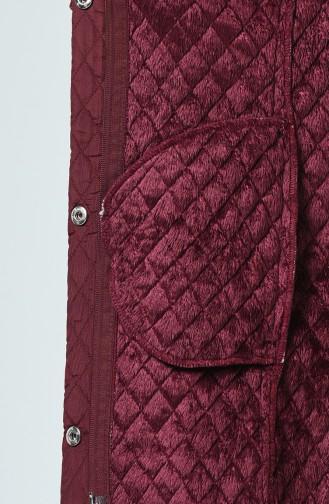 Manteau à Motifs 0823-05 Plum 0823-05
