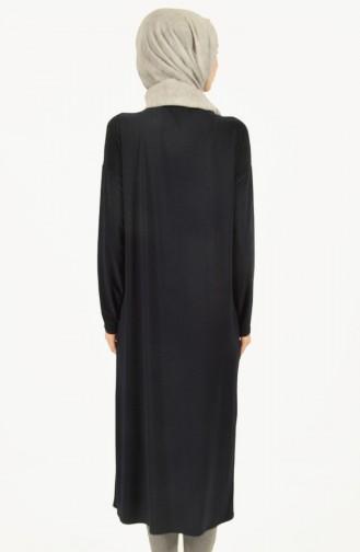 Yarasa Kol Uzun Tunik 1483-01 Lacivert