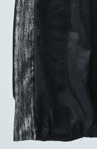 Kapüşonlu Kapitone Kaban 1971-01 Siyah