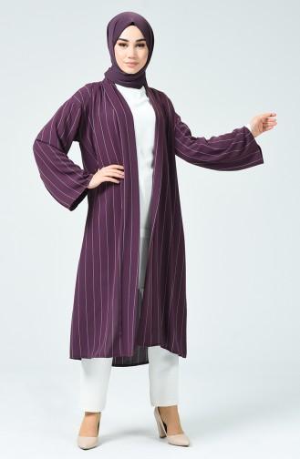 Kimono à Rayures 1001-02 Pourpre 1001-02