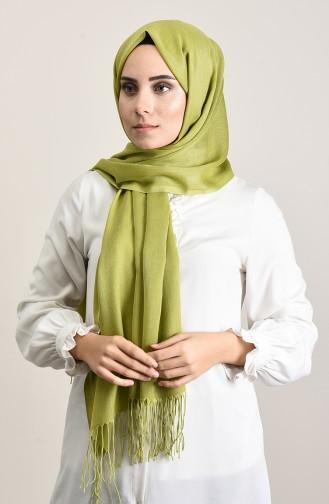 Plain Pashmina Shawl Oil Green 901472-26
