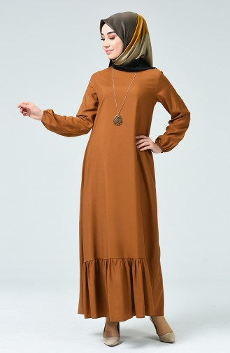 Tobacco Brown İslamitische Jurk 1207-07