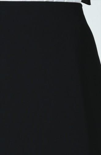 Büyük Beden Düz Klasik Etek 0499-01 Siyah