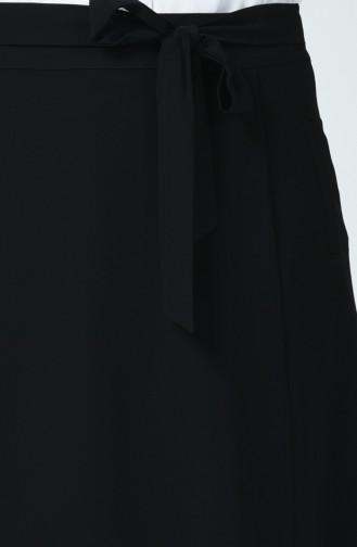 Jupe à Poche Grande Taille 0557-01 Noir 0557-01