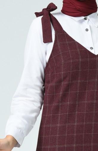 Robe Gilet à Carreaux 3121-02 Bordeaux 3121-02