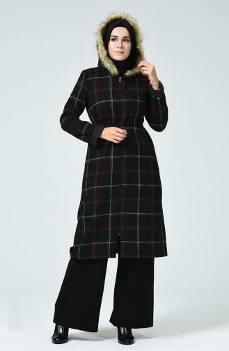 Doppelseitiger Mantel 6831-11 Schwarz 6831-11