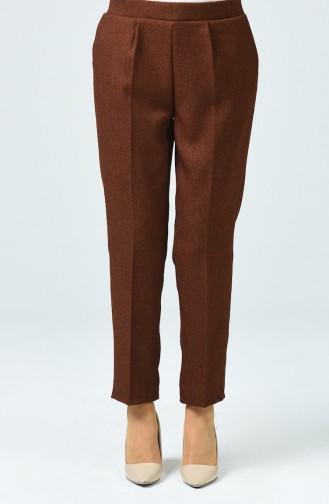 Pantalon à Poche 0881A-01 Brun 0881A-01