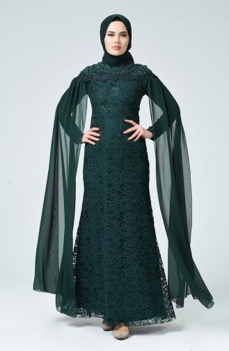Smaragdgrün Hijab-Abendkleider 5231-02