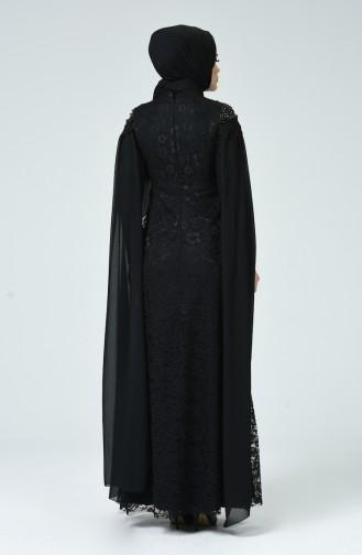 Schwarz Hijab-Abendkleider 5231-04