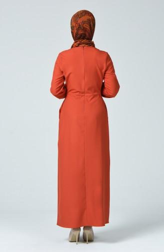 Robe Plissée 2040-03 Brique 2040-03