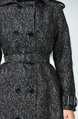 Black Trench Coats Models 8004-01
