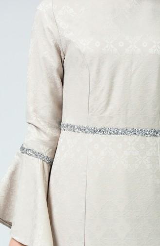 Taşlı Abiye Elbise 60081-10 Taş