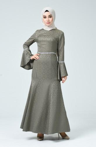 Habillé Hijab Khaki 60081-14