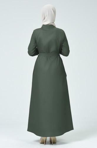 Grün Hijap Kleider 60080-01