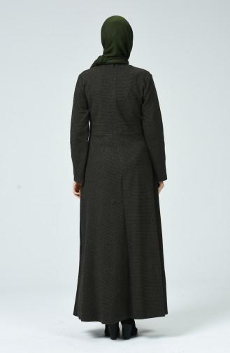 Khaki Hijap Kleider 81750-03