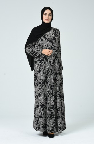 Robe Lycra à Motifs 0044-01 Noir 0044-01