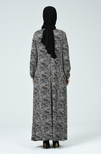 Robe Lycra à Motifs 0045-01 Noir 0045-01