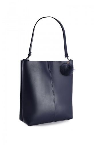 Navy Blue Shoulder Bag 10664LA