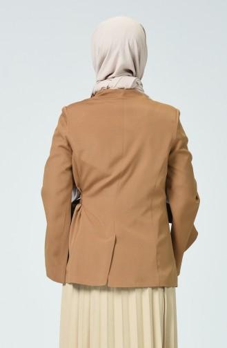 Yandan Bağlamalı Ceket 6472-04 Camel