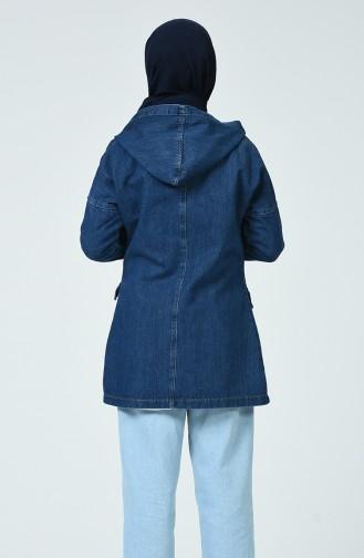 Veste Jean a Capuche 6074-01 Bleu Marine 6074-01