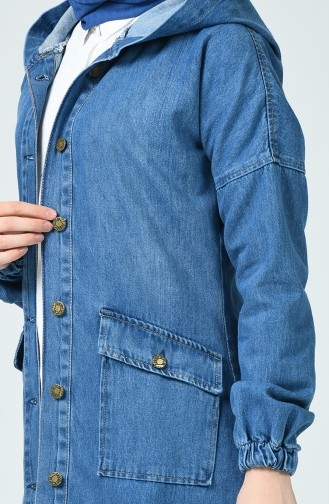 Veste Jean a Capuche 6074-02 Bleu Jean 6074-02