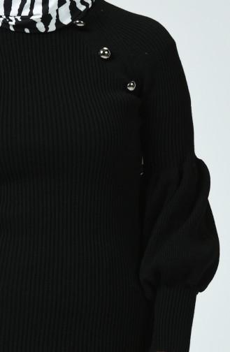 Pull Tricot Détail Boutons 0013-06 Noir 0013-06