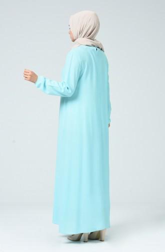 Robe Avec Collier 0023-10 Vert Menthe 0023-10