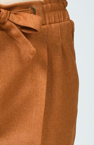 Pantalon à Motifs 1737-04 Moutarde Foncé 1737-04