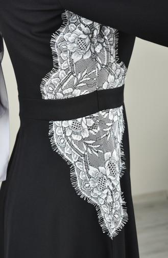 Schwarz Hijab-Abendkleider 8041-01