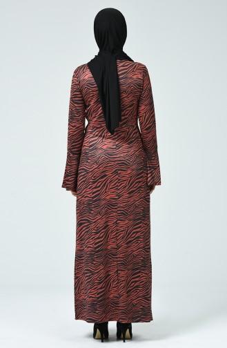 İspanyol Kol Elbise 4331B-01 Kahverengi
