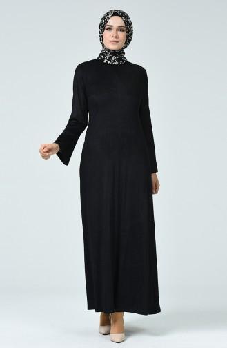 Robe en Daim 1346-03 Noir 1346-03