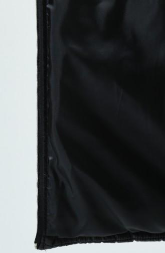 سترة بدون أكمام أسود 0102-01