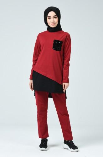 Claret Red Tracksuit 9251-01