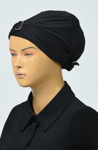 Schwarz Hijab Badeanzug 0406-02
