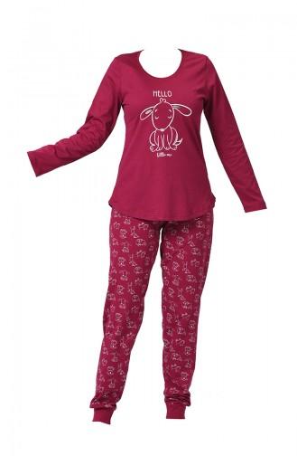 Claret red Pyjama 903229-B