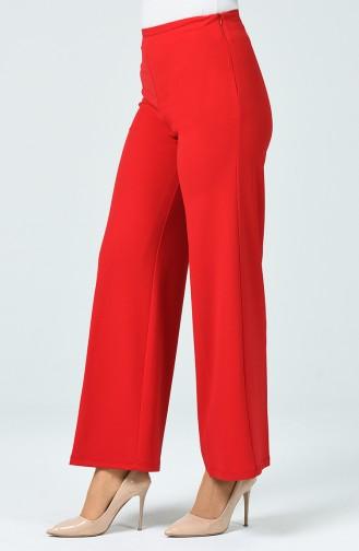 Pantalon Large en Tricot  1740-01 Rouge 1740-01