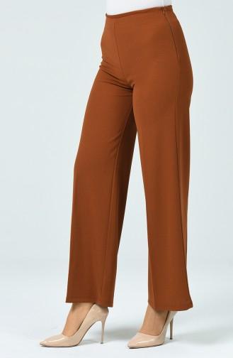 Pantalon Large en Tricot  1740-02 Tabac 1740-02