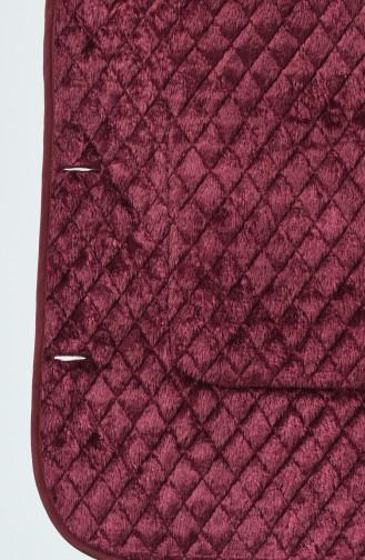 Manteaux Matelassé a Motifs Grande Taille 0824-02 Bordeaux 0824-02