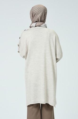 Half Sleeve Tricot Poncho Beige 0942-01