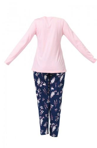 Ensemble Pyjama à Manches Longues Pour Femme 903290-A Rose 903290-A