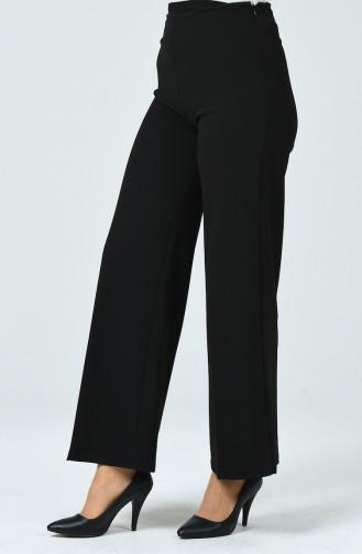 Pantalon Large en Tricot 1740-03 Noir 1740-03