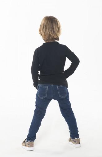 Boys Pant Shirt Suit Black White 078