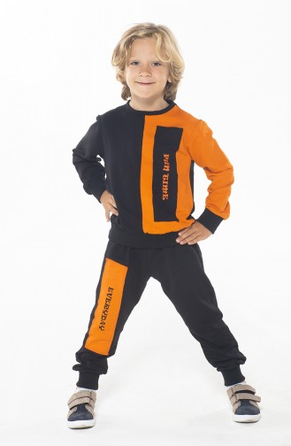 Ensemble Pour Enfant Garçon ZN-SS-108 Noir Oragne 108