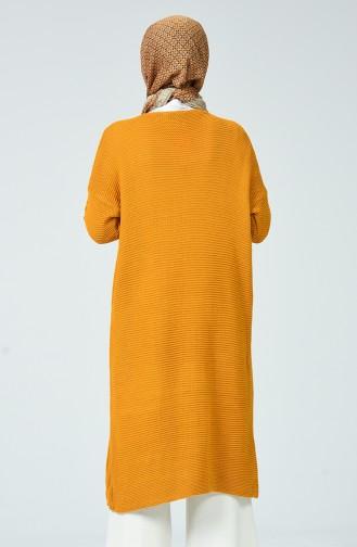 Tricot Pocket Cardigan Mustard 1938-03