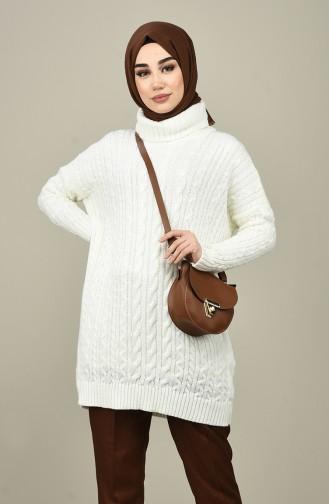 Tricot Long Sweater Ecru 1939-04