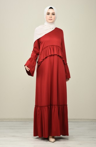 Rot Hijap Kleider 8086-02
