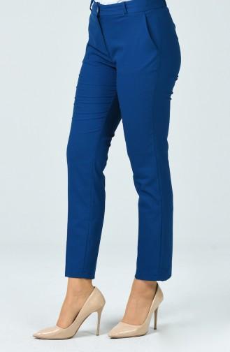 Pantalon à Bouton 1249PNT-05 Bleu Pétrole 1249PNT-05