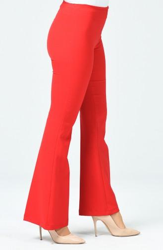 Pantalon Large à Fermeture 1615891-04 Rouge 1615891-04