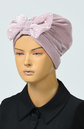Beaded Bow Bonnet Rose Dried 7003-04